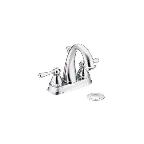 Kingsley Two Handle Centerset High Arc Bathroom Faucet by Moen