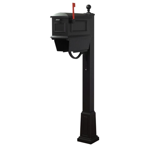 Traditional Curbside Mailbox with Springfield Post Included with Base by Special Lite Products