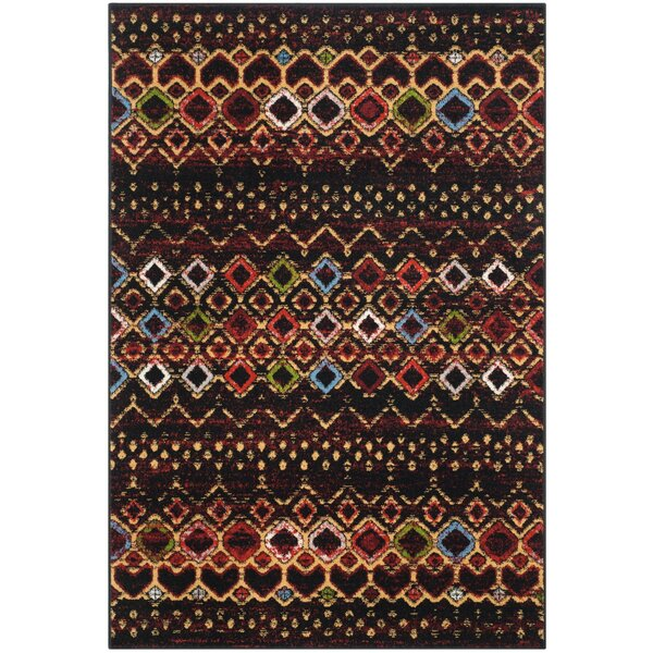 Vadim Black Area Rug by World Menagerie