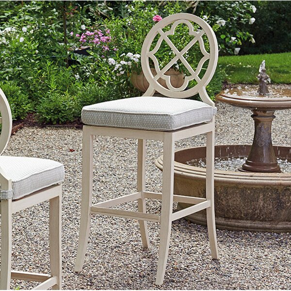 Misty Garden 31.5 Patio Bar Stool with Cushion by Tommy Bahama Outdoor