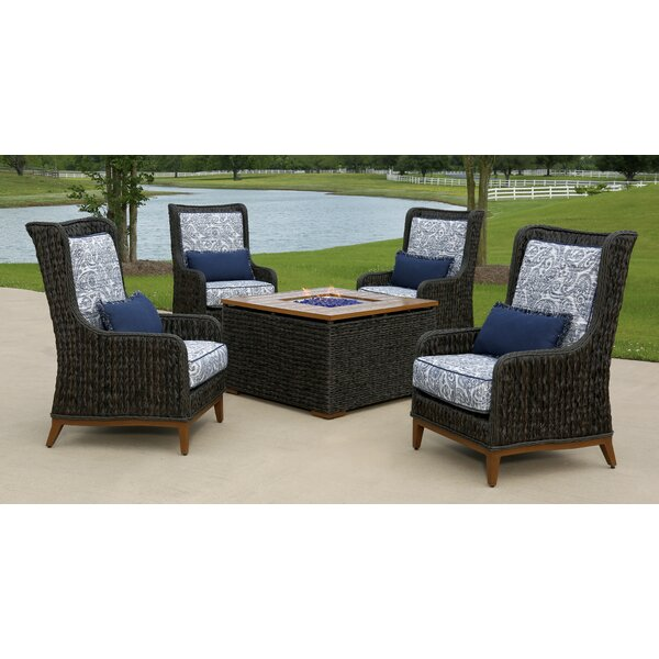 Rio 5 Piece Sunbrella Multiple Chairs Seating Group with Cushions by Brayden Studio