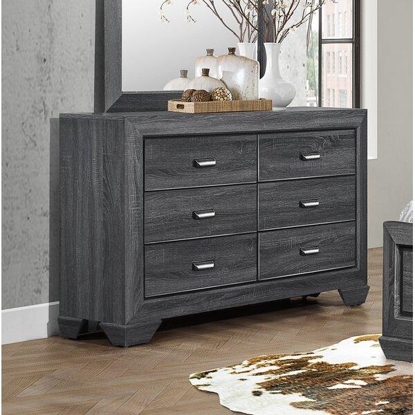 Henry 6 Drawer Double Dresser by Loon Peak