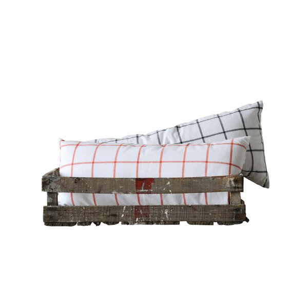 Bart Check Cotton Lumbar Pillow (Set of 2) by Gracie Oaks