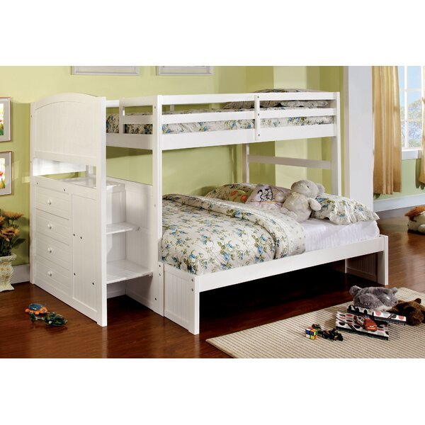 June Twin Over Full Bed with Drawers by Hokku Designs