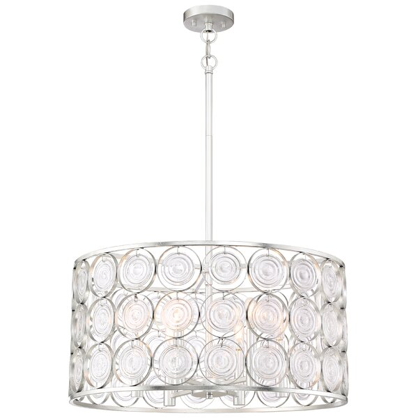 Ladwig 6 - Light Candle Style Drum Chandelier by House of Hampton House of Hampton