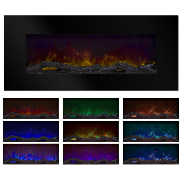 Rawlins LED Wall Mounted Electric Fireplace By Orren Ellis
