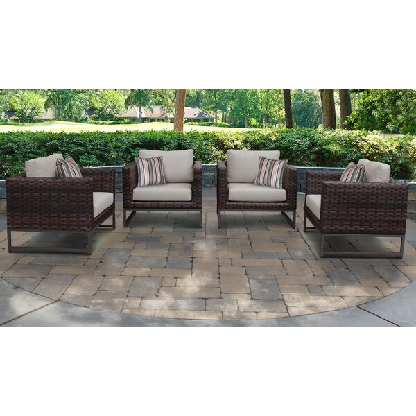 Mcclurg Patio 4 Piece Armchair Seating Group with Cushions (Set of 4) by Darby Home Co Darby Home Co