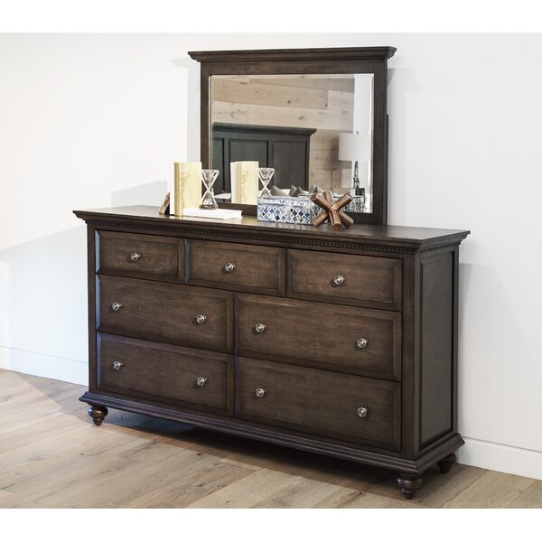 Dezirae 7 Drawer Dresser with Mirror by World Menagerie