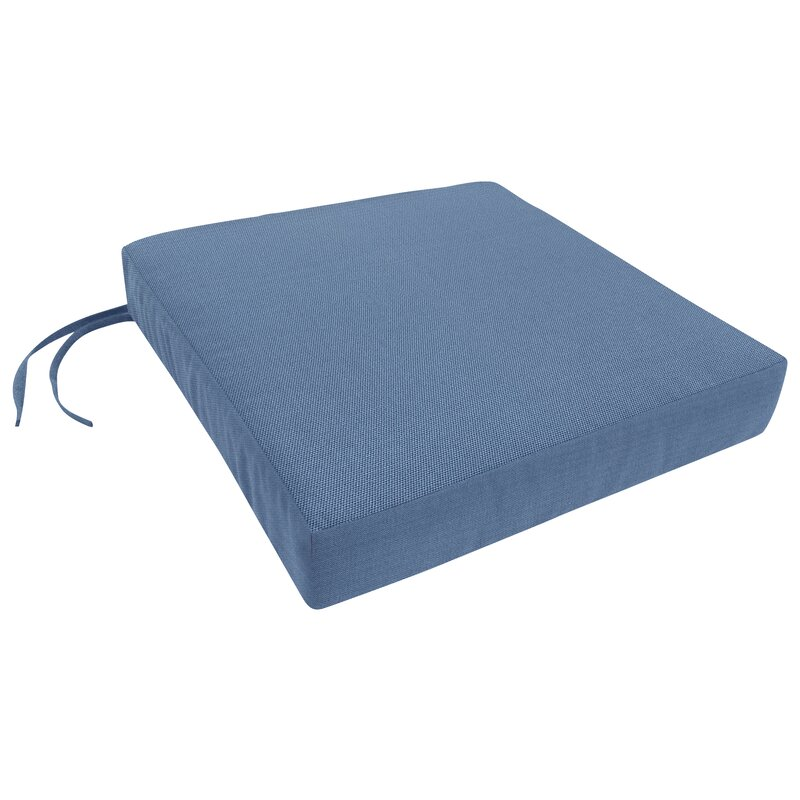 Easy Way Products Knife Edge Indoor Outdoor Sunbrella Dining Chair Cushion With Ties And Zippered Perigold