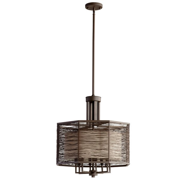 8 - Light Shaded Drum Chandelier By Cyan Design