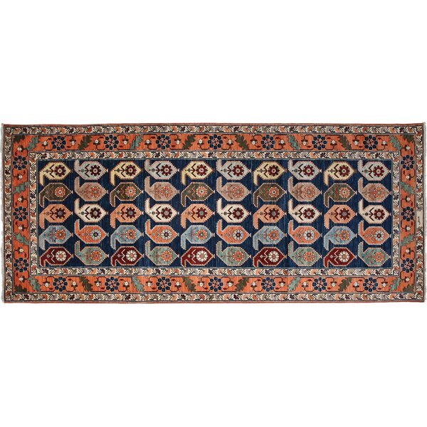One-of-a-Kind Ziegler Hand-Knotted Blue Area Rug by Darya Rugs
