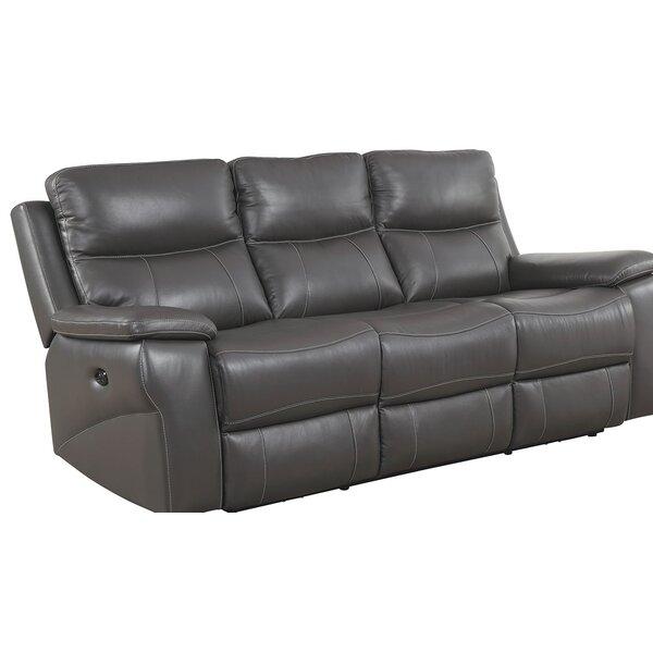 Maki Top Grain Reclining Sofa by Red Barrel Studio