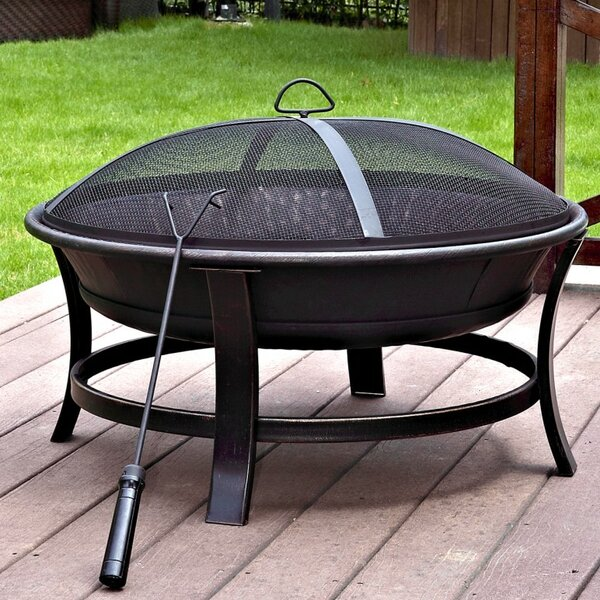 Windsor Steel Wood Burning Fire Pit by Jeco Inc.