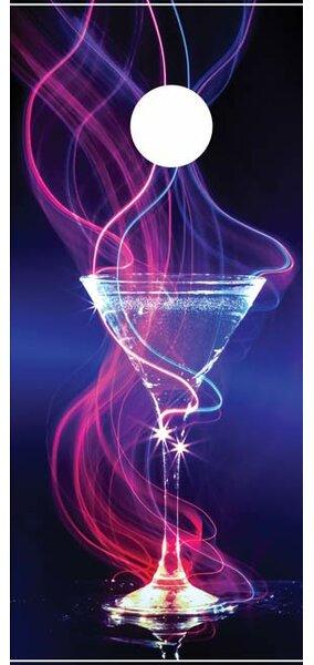 Martini Swirl Cornhole Board by Lightning Cornhole