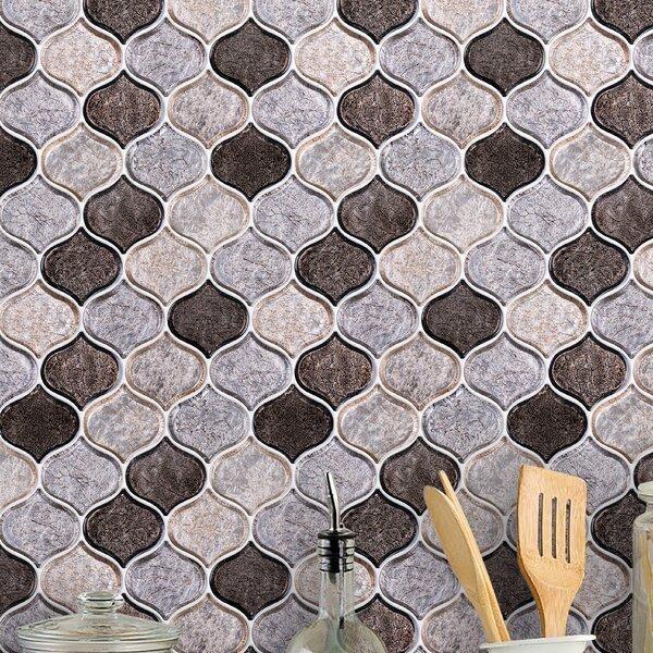 Peach 3 x 3 Glass Mosaic Tile