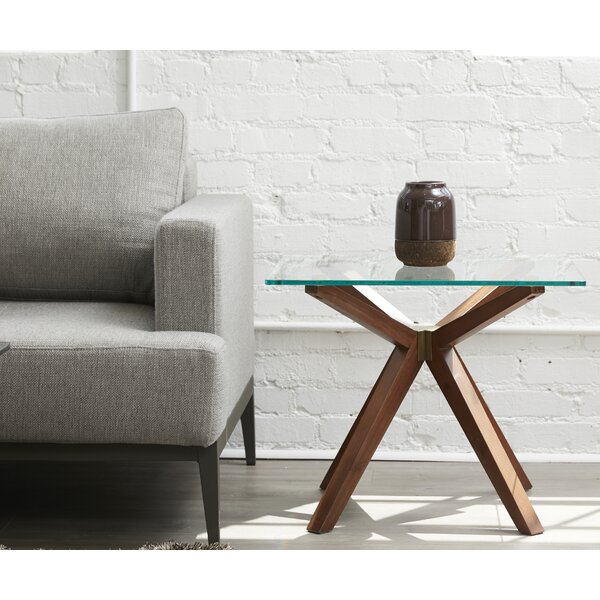 Moffitt Glass End Table By Union Rustic