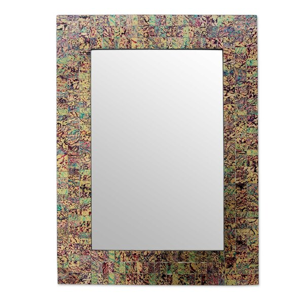 Glass Mosaic Artisan Made Wall Mirror by Novica