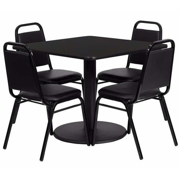 Maverick Square Laminate 5 Piece Dining Set by Winston Porter