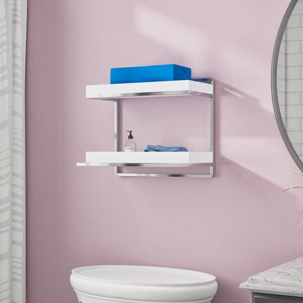 Yadiel 2-Tier 15.88 W x 13.63 H x 10.37 D Wall Mounted Bathroom Shelves