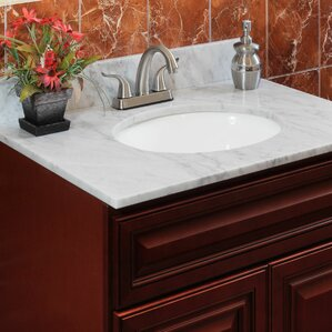 sink on top of vanity. Cara White 31  Single Bathroom Vanity Top Tops You ll Love Wayfair