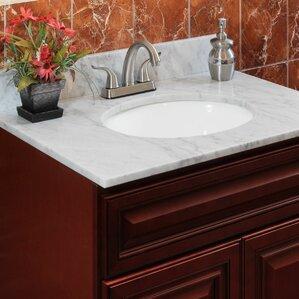cara white 37 single bathroom vanity top