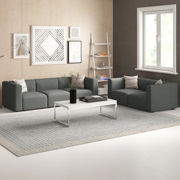 Nash 2 Piece Modular Living Room Sofa Set by Zipcode Design