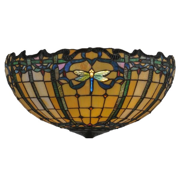 Tiffany 9.5 H Glass Bowl Ceiling Fan Bowl Shade in Yellow