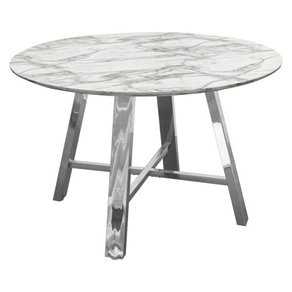 Paris Round Dining Table by Diamond Sofa Diamond Sofa