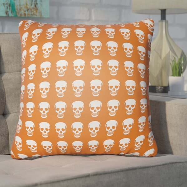 Calindra Skulls Throw Pillow by Ivy Bronx
