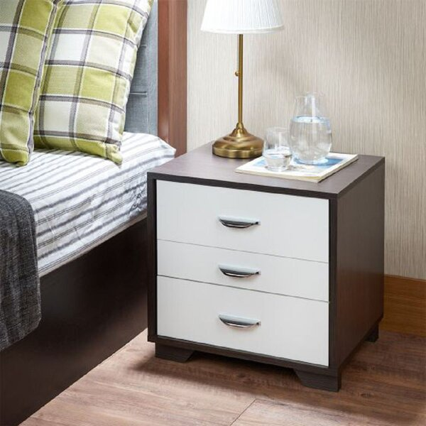 Wardsville 3 - Drawer Nightstand In White By Latitude Run