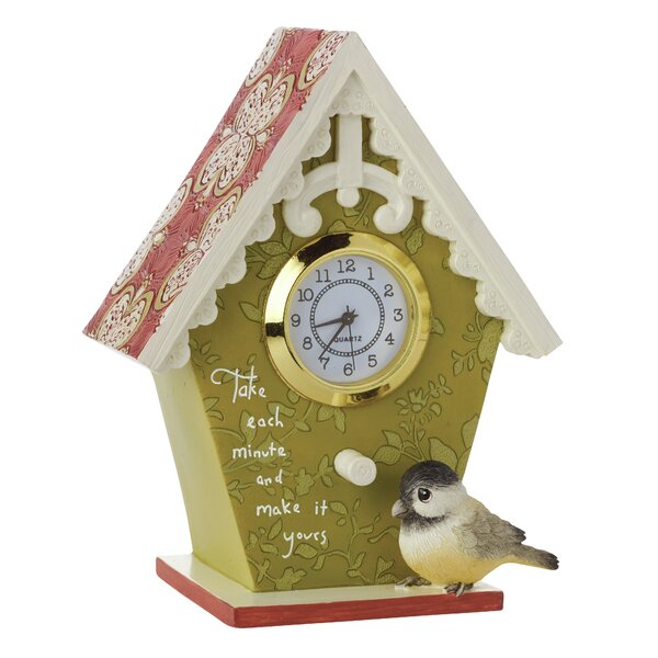 Birdhouse Table Clock by Precious Moments