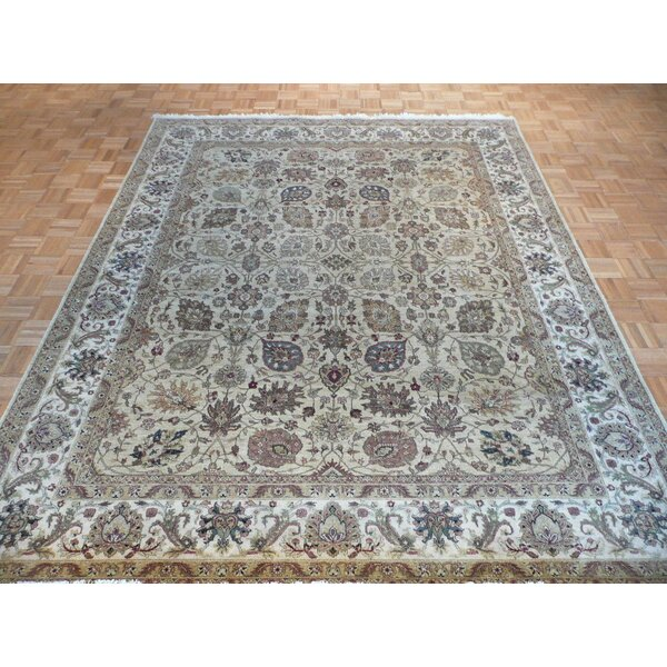 One-of-a-Kind Rhyne Hadji Jalili Hand-Knotted Wool Beige Area Rug by Astoria Grand