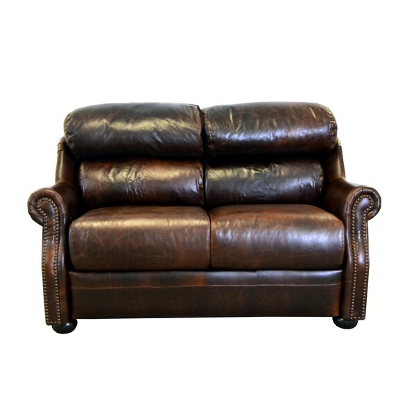 Modern Style Beacon Leather Loveseat by Westland and Birch by Westland and Birch