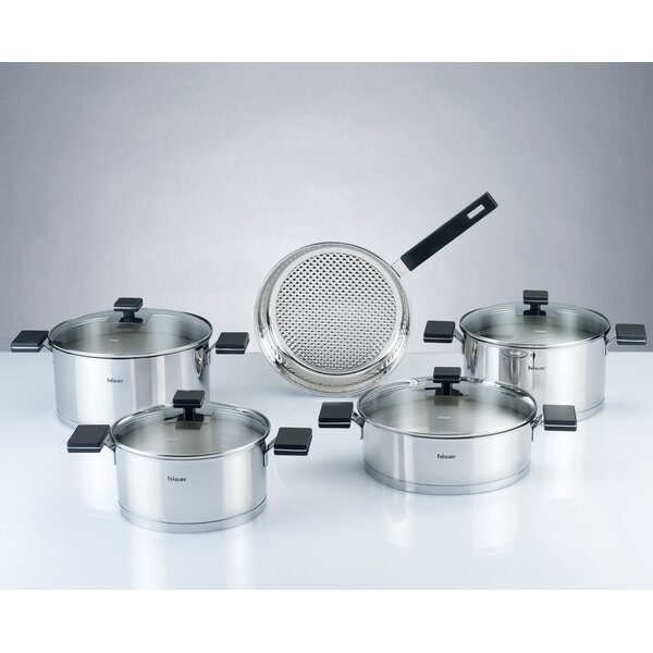 Milan 9 Piece Stainless Steel Cookware Set by Hisar