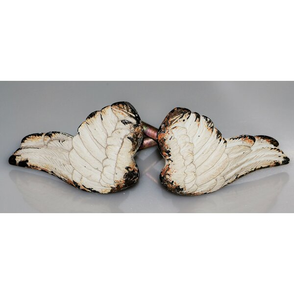 Handpainted Art Deco Angel Wings Novelty Knob Multipack (Set of 2) by Charleston Knob Company