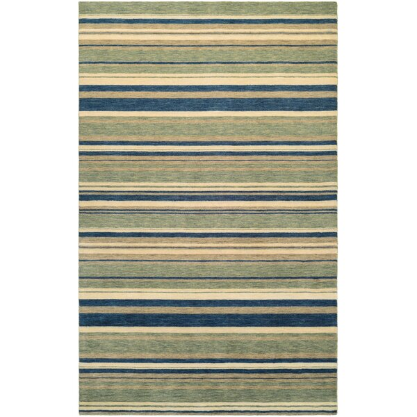 Russell Green Area Rug by Breakwater Bay
