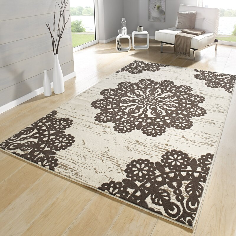 hanse home teppich lace in dunkelbraun creme bewertungen. Black Bedroom Furniture Sets. Home Design Ideas