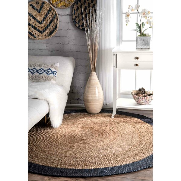 Lewisetta Blue/Brown Area Rug by Beachcrest Home