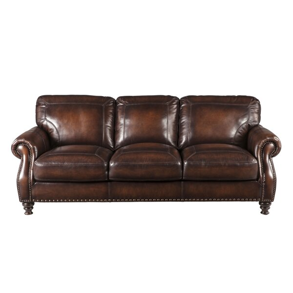 Trecartin Leather Sofa by Darby Home Co
