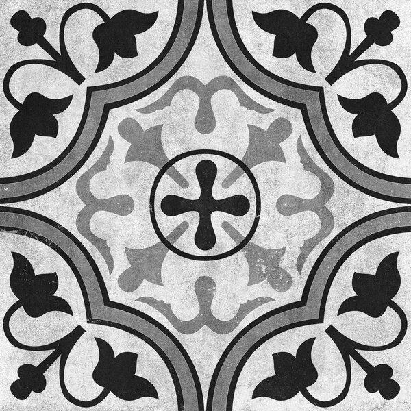 Cementine 16 x 16 Ceramic Field Tile in Contrast Foglie by Interceramic
