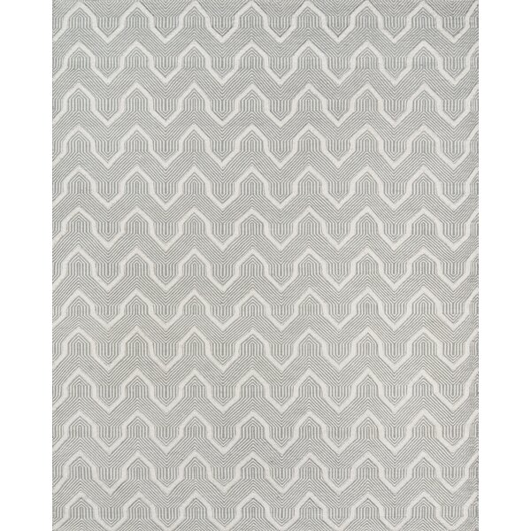 Langdon Prince Hand-Woven Wool Gray Area Rug by Erin Gates by Momeni