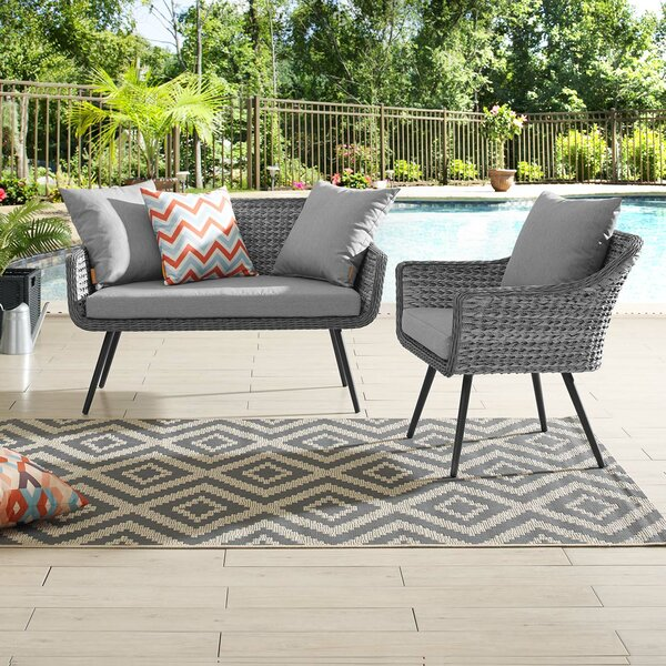 Thayne 2 Piece Sofa Seating Group with Cushions by Ivy Bronx Ivy Bronx