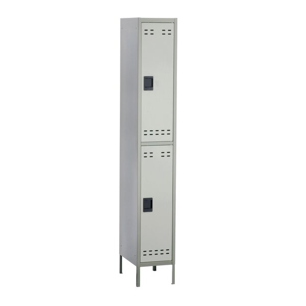 2 Tier 1 Wide School Locker by Safco Products Company