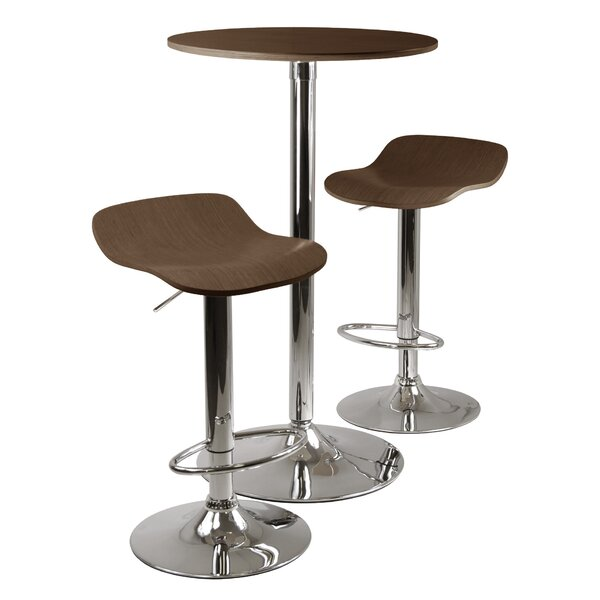 Villawood 3 Piece Pub Table Set by Latitude Run