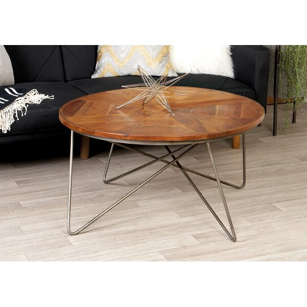 Metal and Wood Coffee Table by Cole & Grey
