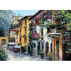 Village Hideaway by Howard Behrens Painting Print on Canvas by Printfinders