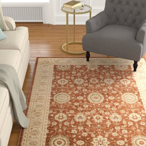 Lavelle Rust / Ivory Area Rug by Charlton Home
