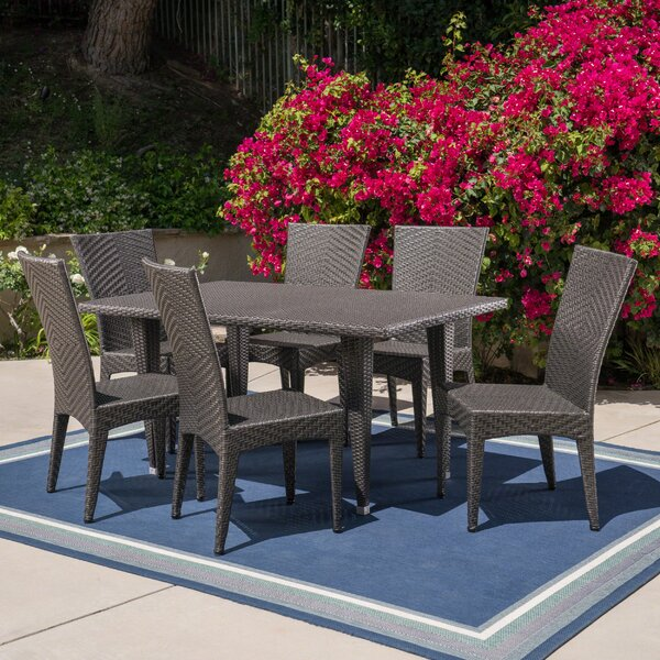 Mebane Outdoor 7 Piece Dining Set by Wrought Studio