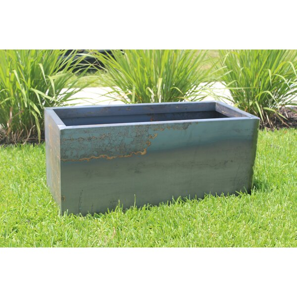 Smock Raw Corten Steel Box Planter by 17 Stories