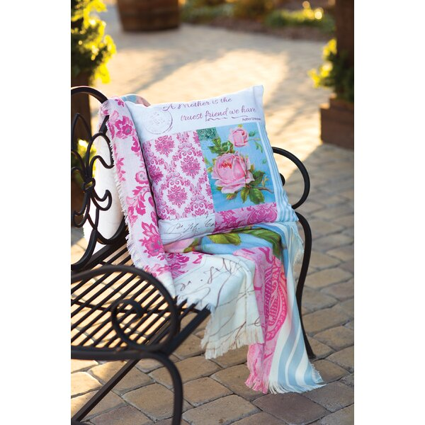 Blooming Buds Tapestry Throw by Manual Woodworkers & Weavers